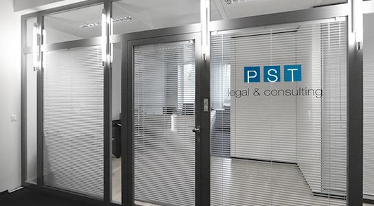 Bürobeschriftung PST Legal & Consulting