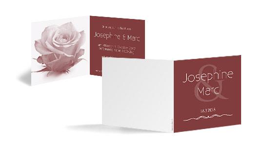 Faltkarte als Hochzeitseinladung