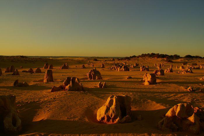 Sonnenuntergang Pinnacles, Westaustralien