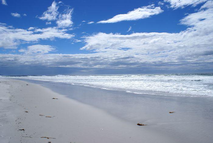 Eins am Strand