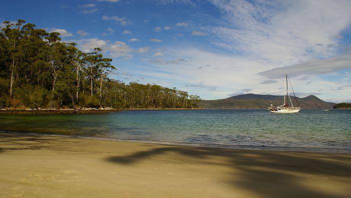 Segelboot, Tasmanien