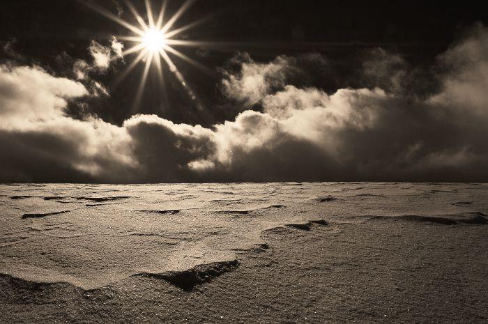 Schneeverwehnungen