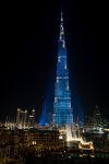 Mit 828m das höchste Gebäude der Welt.