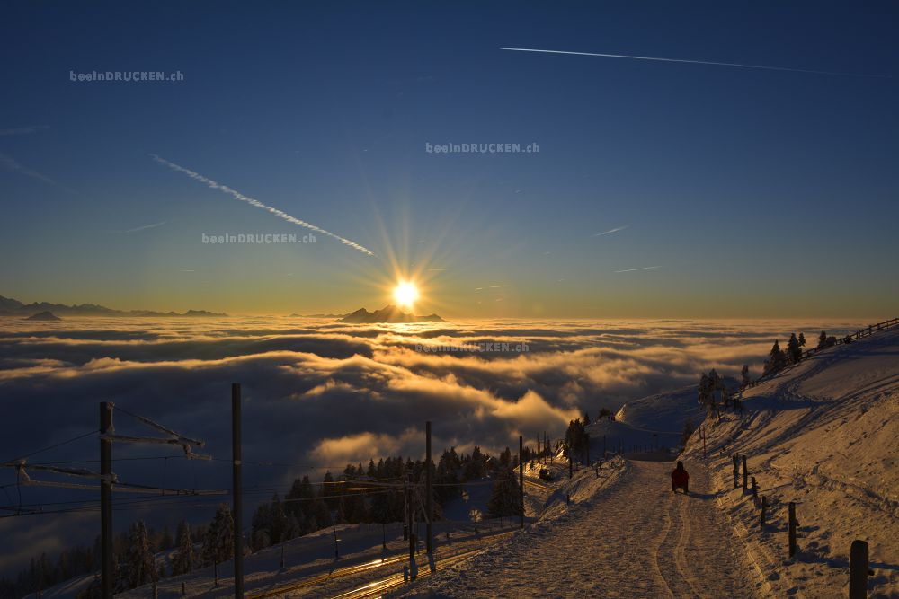 Rigi Kulm Sonnenuntergang