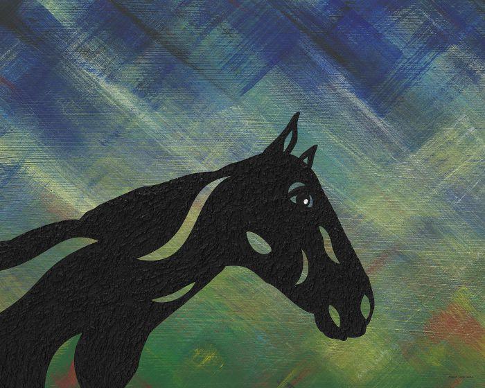 Crimson - Abstraktes Pferd