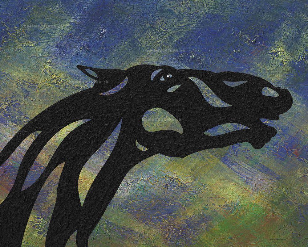 Fred - Abstraktes Pferd