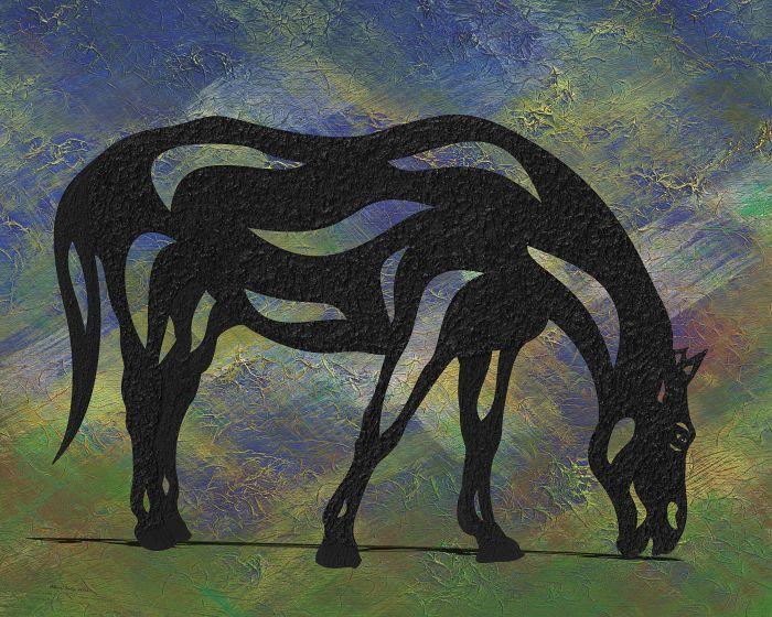 Hazel - Abstraktes Pferd