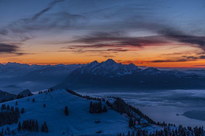 Winter auf der Rigi Kulm